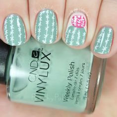 UberChic Beauty Wild West-01 Cactus Reverse Stamping | Peachy Polish