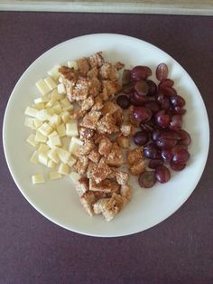 ... , whole grain toast with coconut oil & quartered grapes. 11 months