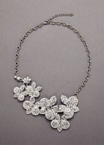 Crystal and Floral Embellished Necklace Style 106271  SALE -  Online Exclusive  Buy Now $45.00