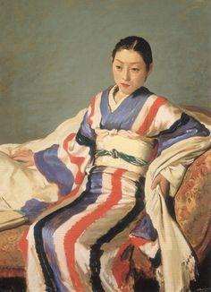 KOISO Ryohei, Japan 小磯良平 「着物の女」