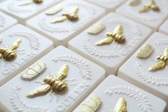 This Handmade Queen Bee Soap is made with real honey