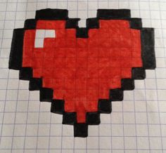 Dessin Pixel Coeur Multicolore