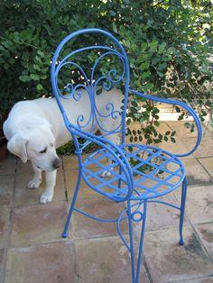 PVP 66 eur. Silla modelo Canarias. Forja artesanal Made in Spain. Tienda online www. fustaiferro.com