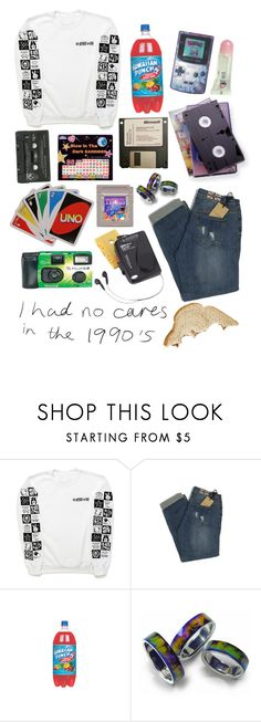 """""""1990s sleepover"""" by notalexperkins ❤ liked on Polyvore featuring Vision, Fujifilm, Westinghouse, 90s and sleepover"""