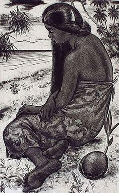 Vahine Tahiti par Jacques Boullaire