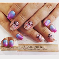Dream catcher nail art by Taylor Made Nails EXMOUTH