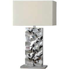 Ren-Wil LPT323 Couture 28 Table Lamp in Chrome ❤ liked on Polyvore featuring home, lighting, table lamps, chrome lighting, chrome lamp and chrome table lamps
