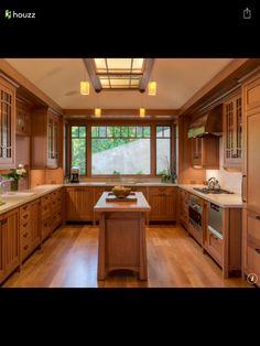 Asian craftsmen style kitchen