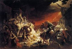 The Last Day of Pompeii is a large canvas painting by Russian artist Karl Bryullov in Romanticism Russian Painting, Russian Art, Pompeii Paintings, Wall Paintings, Ancient Pompeii, Pompeii Ruins, Google Art Project, Psy Art, Art Graphique