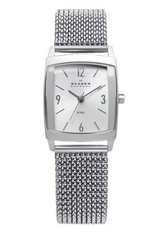 Skagen 691SSS1 Stainless Steel White Label Women's Quartz Watch You will find luxury watch models at the best price in the industry. www.brandnameswatch.com