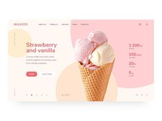 Balosto by Maxim Podavalkin Graphic design inspiration website design inspiration Life is ice cream on a summer day. Do not waste your time, eat fast :) The first screen for a craft ice cream company. Graphisches Design, Layout Design, Clean Design, Logo Design, Website Design Inspiration, Graphic Design Inspiration, Branding, Maquette Site Web, Ice Cream Logo