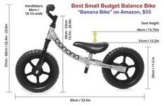Image result for balance bike dimensions