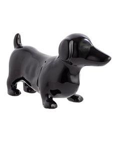 Look at this #zulilyfind! Black Dachshund Figurine #zulilyfinds