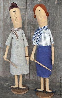 """Ароматизированные куклы ручной работы. Ярмарка Мастеров - ручная работа Интерьерные примитивные куклы """" Училки!"""". Handmade."""