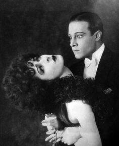 """Alla Nazimova and Rudolph Valentino in """"Camille"""" (Ray C. Smallwood, 1921)"""