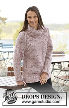 Free knitting patterns and crochet patterns by DROPS Design Sweater Knitting Patterns, Cardigan Pattern, Knit Patterns, Free Knitting, Crocheting Patterns, Free Crochet, Raglan Pullover, Pullover Sweaters, Jumpers For Women