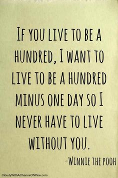 """On never wanting to be separated from the person you love. 