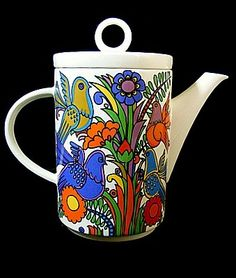 VINTAGE VILLEROY & BOCH ACAPULCO LARGE COFFEE POT.  Just my style!