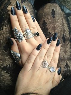 @Celeste  Magick Wicca Witch Witchcraft:  #Witch Nails and Rings.