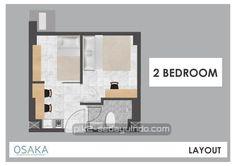 Tipe 2 bedroom apartemen Osaka Riverview PIK2 Jakarta