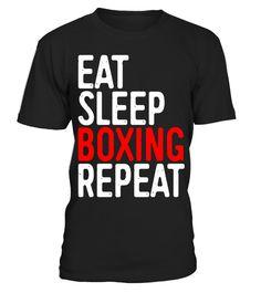EAT SLEEP BOXING workout tee MMA xmas birthday gift idea boys girls top T SHIRT