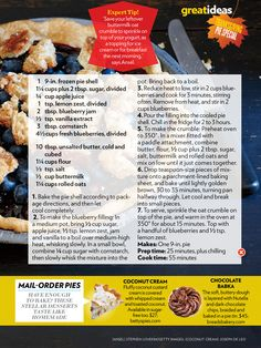 Blueberry Crumble Pie.... Make 2.. 1 for yourself, and 1 for everyone else!!