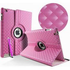 Ik vond dit op Beslist.nl: Stand Case 360 graden turn Hoes voor iPad 2, 3 en 4/diamant roze