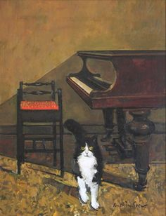 Ruskin Spear 'Cat and Piano'