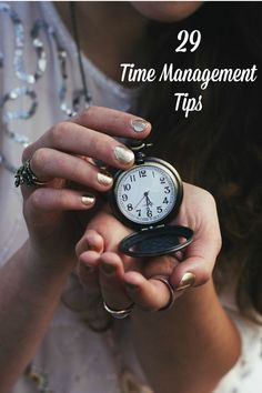 This is a compilation of my 29 time management tips. Pick the ones that you need to work on to save time in your day to da life.