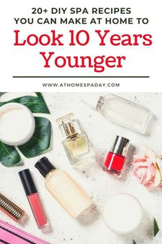 These quick and easy DIY spa recipes use less than 5 natural ingredients per recipe and will make you look 10 years younger. Perfect for a spa day at home. day at home diy facial masks Spa Day At Home, Home Spa, Beauty Secrets, Diy Beauty, Diy Spa, Homemade Beauty Products, Beauty Recipe, Natural Skin, Natural Beauty