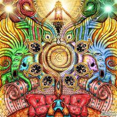 Salvia Divinorum ~Guardian Ancestors by SalviaDroid on DeviantArt Salvia Divinorum, Psychedelic Experience, Psychadelic Art, Psychedelic Pattern, Psy Art, Indie Art, Mystique, Visionary Art, Fractal Art