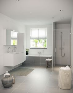 Luxe badkamer met een ligbad inloopdouche designradiator een dubbele wastafel met modern - Idee van deco badkamer ...