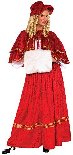 UHC Womens Christmas Caroler Outfit Fancy Dress Theme Party Costume Standard up to 12 -- Check out this great product.