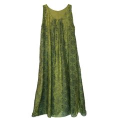 Long Printed Silk Maxi Dress in Citron Green ($128) ❤ liked on Polyvore featuring dresses, layered maxi dress, stretch dresses, long green dress, silk maxi dress and long silk dress