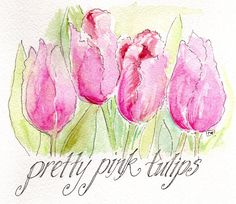 Pretty Pink Tulips by PVE