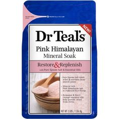 Dr Teal's Pure Himalayan Mineral Soak, Restore & Replenish with Pure Epsom Salt & Essential Oils, 3 lb Sweet Orange Essential Oil, Pure Essential Oils, Herbal Remedies, Health Remedies, Himalayan Salt Bath, Teal And Pink, Epsom Salt, Natural Cures, Natural Beauty