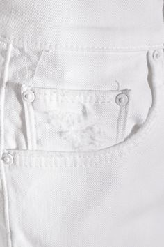 Mother - The Teaser Distressed Stretch-denim Shorts - White - 28