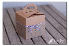 Glitter PolkaDot Embellished Gift Box ~ Sugar Bee Crafts