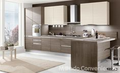 Cucina moderna con penisola lube cucine pinterest for Cucina like mondo convenienza