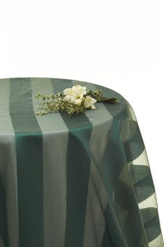 Charmant Hunter Green Stripe #tablecloth #green Available For Hire Www.decorit.com.