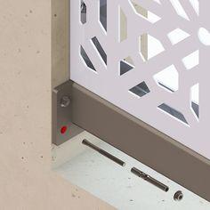 Decorative metal panel framework