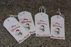 Polly kreativ: Ein bäriges Geschenk - Tags für Weihnachten