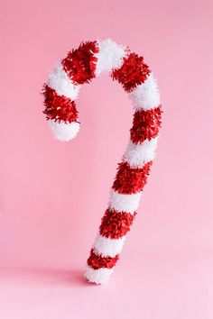 Giant Candy Cane DIY
