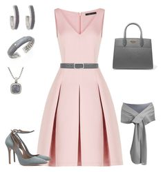 Blushing Grays by o2lkgypsy2o on Polyvore featuring polyvore, fashion, style, BCBGMAXAZRIA, Prada, John Hardy, Erica Lyons, David Yurman, Gucci and clothing