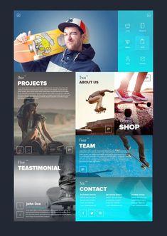 Web design - SixSteps Homepage Design by Vladimir Babic Interaktives Design, Modern Web Design, Web Ui Design, Best Web Design, Sport Design, Flat Design, Design Trends, Webdesign Inspiration, Website Design Inspiration