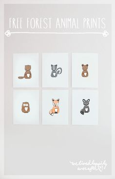 Make one special photo charms for your pets, 100% compatible with your Pandora bracelets.  Free Forest Animal Nursery Prints