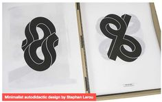 'Minimalist autodidactic design by Stephan Lerou.' Article on Creative Digest.