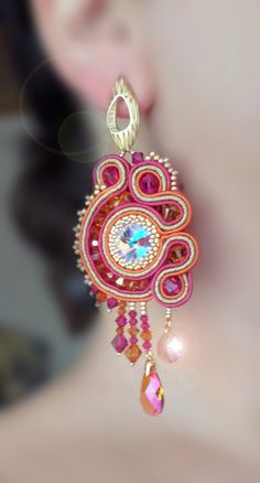 Soutache Earrings Serena Di Mercione Creation