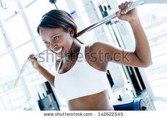 Fitness Girl Gym Fotografie, snímky a obrázky | Shutterstock