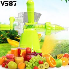 Multifunctional Hand Juicer Plastic Manual Ice Cream Vegetables Fruit Detachable Juice Maker Machine Home Kitchen Tools Supplies